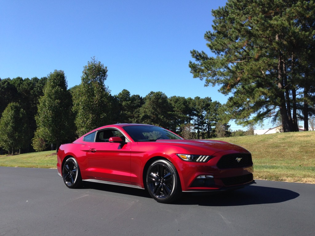 Behind the wheel the 2015 ford mustang ecoboost